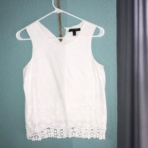 White Cotton Banana Republic Top